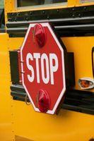 Hur bo säker vid en busshållplats i skolan