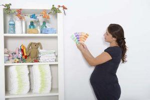 Baby rummet väggmålning idéer