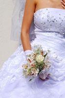 Bröllop etikett för brudtärna