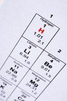 Namn fyra element som har egenskaper som liknar väte