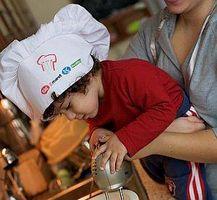 Kids' matlagning förkläden & hattar