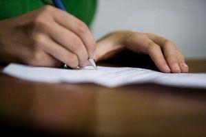Hur man skriver med franska Script handskrift
