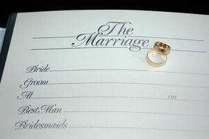 Hur du skaffar en kopia av ett vigselbevis om gift i Jamaica