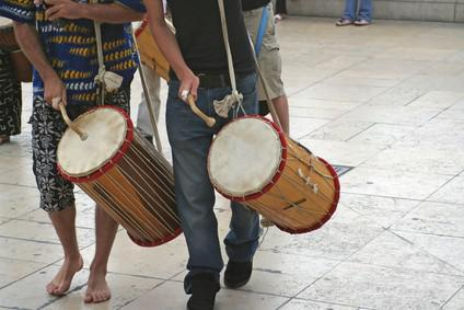 Delar av nigeriansk musik & instrument