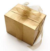 Vad är en etikett för en fars Present till bröllop dusch?