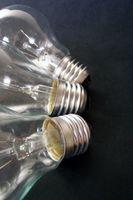 Vilka delar är i glödlampor?