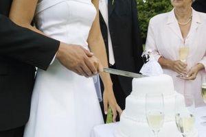 Västerländska bröllopstårta Topper traditioner
