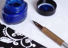 Historia av penna och bläck Rendering