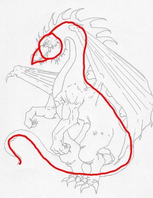 Hur man drar en Dragon bilder
