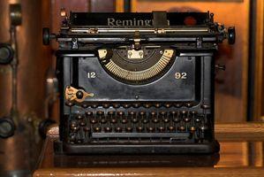 Fördelar & nackdelarna med en manuell skrivmaskin