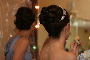 Bröllop frisyr idéer för långt hår